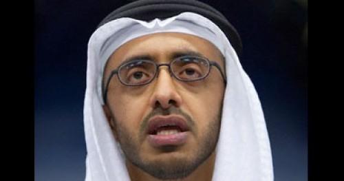 وزير خارجية الإمارات: لا نريد مزيدا من الاضطرابات والقلق في المنطقة