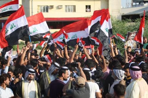 الأمن العراقي يفض تظاهرة حاولت اقتحام منزل مسؤول بالبصرة