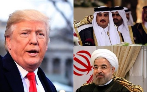 """هاشتاج """"قطر تلعب على أميركا و إيران"""" يغزو تويتر"""