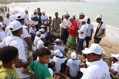 اختتام حملة نظافة شواطئ مدينة المكلا بحضرموت (صور)