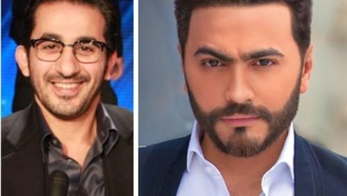 """تامر حسني يستعد لتقديم أغنية فيلم """" خيال مآتة """" لـ أحمد حلمي"""