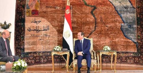 مصر: السيسي يبحث مع رئيس الوزراء الأردني تطورات المنطقة