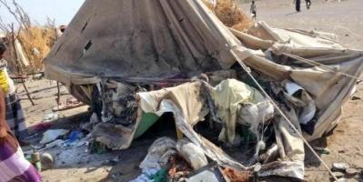 سقوط ضحايا من الأطفال في استهداف حوثي لمخيم النازحين جنوب الحديدة