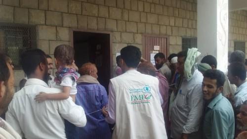 تدشين  نظام البصمة على المستفيدين من مشروع الأمن الغذائي بردفان