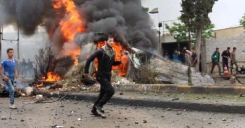 انفجار بمنطقة كنسية السيدة العذراء في سوريا وإصابة العشرات