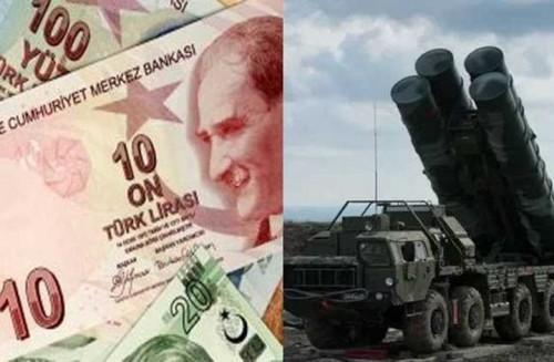 """الليرة التركية تهبط متأثرة  بصفقة صواريخ """" أس 400 """""""