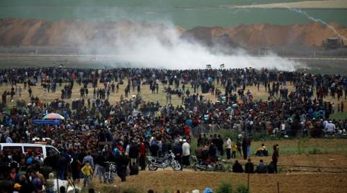 إصابة 40 فلسطينيًا في مسيرات العودة شرقي غزة