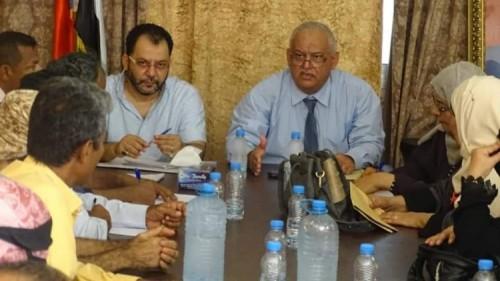 تنفيذية انتقالي العاصمة تعقد اجتماعها الدوري بمديرية المنصورة بعدن