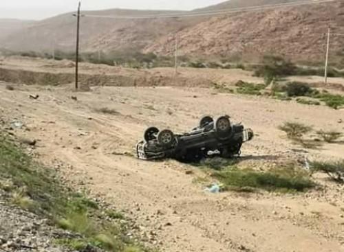 مصرع شخصين وإصابة 3 في حادث مروري بشبوة