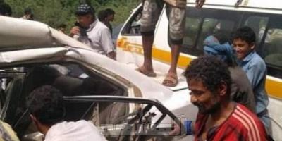 وفاة وإصابة 11 شخصاً بينهم قيادي حوثي بحادث مروري مروع بالمحويت