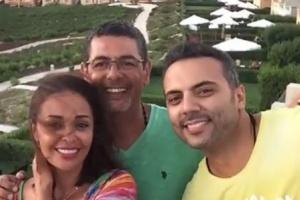 أحمد فريد يهنئ زوج داليا البحيري بعيد ميلاده (فيديو)