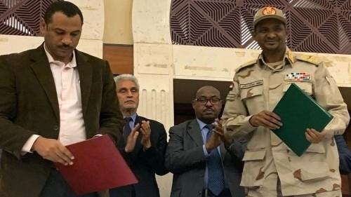 الحرية والتغيير والمجلس العسكري السوداني يوقعان على وثيقة تقاسم السلطة