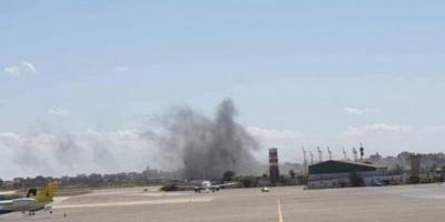 استهداف مطار معيتيقة الليبي بقذائف هاون