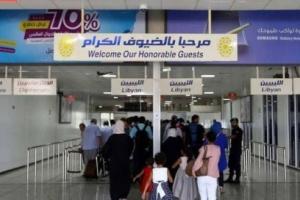 عودة الملاحة الجوية بمطار معيتيقة في ليبيا بعد توقفه
