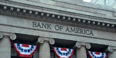 """بنك """" أوف أمريكا """" يعلن ضخ 18 مليار دولار بصناديق السندات والأسهم"""