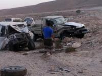 نجاة رئيس قيادة الانتقالي بحصوين من حادث مروري مروع