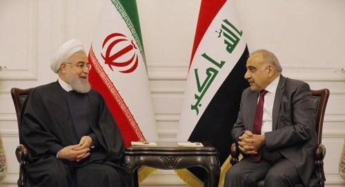 مباحثات ثنائية بين رئيس الوزراء العراقي والرئيس الإيراني