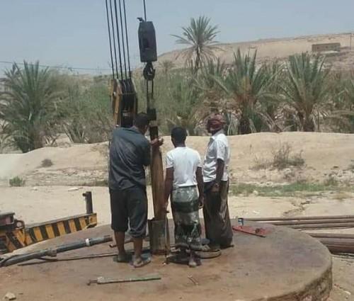 تأهيل أربعة مشاريع لمياه الشرب بمديرية غيل بن يمين (صور)