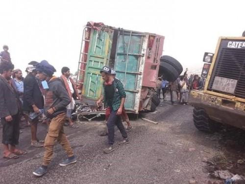 ارتفاع حصيلة ضحايا الحادث المروري المروع في إب