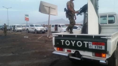 استمرار الانتشار الأمني الواسع للحزام الأمني في جميع مديريات العاصمة عدن