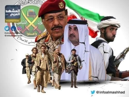 محسن الأحمر يدشن جسور الربط بين قوات الجيش والمليشيات الحوثية