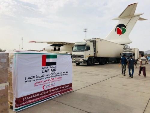 أيادي الإمارات البيضاء في الضالع تخفف المعاناة وتساند القوات الجنوبية