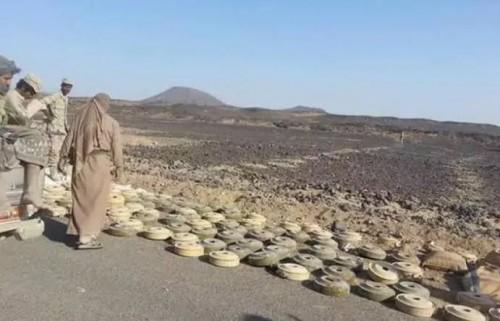 """أرقام """"مسام"""" تكشف الفاجعة.. الحوثي يطوق اليمن بحزام مفخخ من الألغام"""