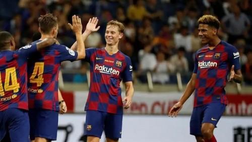 """برشلونة يتوج بكأس """"خوان جامبر"""" بفوزه على أرسنال (2-1)"""
