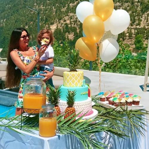 بالصور.. لاميتا فرنجية تحتفل بعيد ميلاد نجلها الثالث