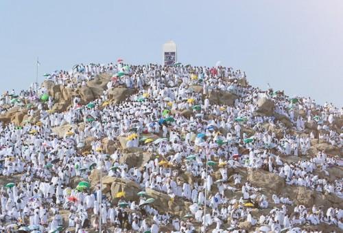 انطلاق وفود الحجاج إلى جبل عرفات لتأدية الركن الأعظم من الحج