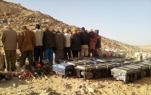 اعتقال 23 منقبًا عن الذهب وضبط 200 كيس من خليط الخام بالجزائر