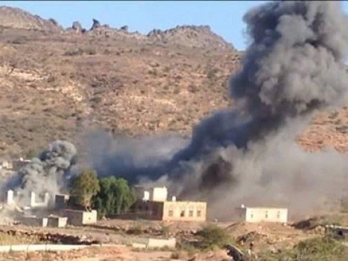 إصابة 5 مواطنين بينهم أطفال في قصف حوثي على شخب شمالي الضالع
