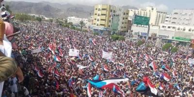 خلال مليونية عدن.. نشطاء جنوبيون: نأمل في خطوات جديدة تضمن للشعب حقوقه