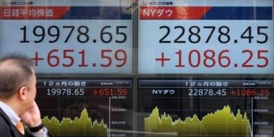 """الركود العالمي يهوي بـ""""نيكي الياباني"""" لأدنى مستوى"""