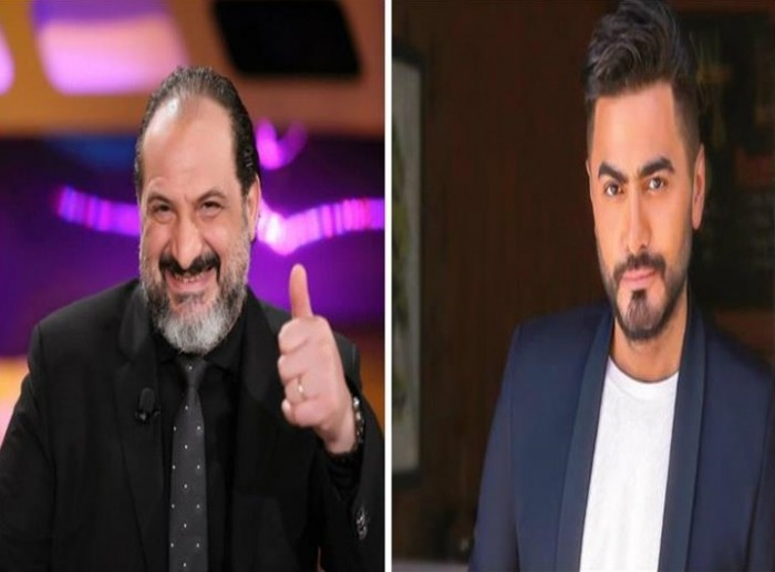تامر حسني يكشف عن مفاجأة خالد الصاوي له في عيد ميلاده