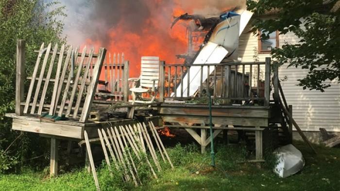 تحطم طائرة أمريكية اصطدمت بمبنى سكني  بنيويورك