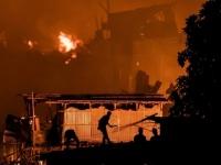 حريق هائل يلتهم حي عشوائي ويشرد 50 ألف في بنجلاديش( صور وفيديو)