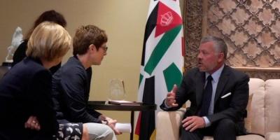 تفاصيل لقاء العاهل الأردني ووزيرة الدفاع الألمانية