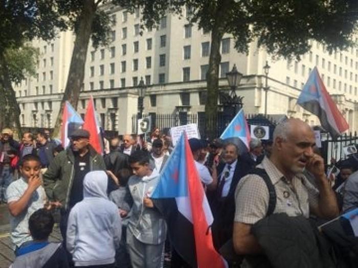 بمشاركة الفنان عبود خواجة..مظاهرة حاشدة في لندن دعما للمجلس الانتقالي(فيديو وصور)