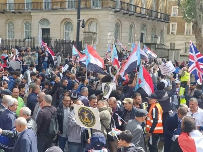 مظاهرات أبناء الجنوب بالخارج.. تدعم الانتقالي وتدحض شائعات قطر