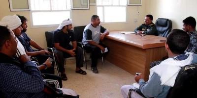 """""""خليفة الإنسانية"""" تبحث احتياجات مركز شرطة حديبو بسقطرى"""