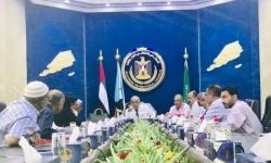 اجتماعات بين هيئة رئاسة الانتقالي وقيادات المرافق بعدن