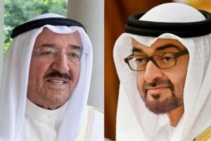 ولي عهد أبوظبي يطمئن على صحة أمير الكويت خلال اتصال هاتفي