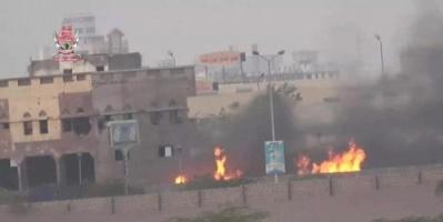 سقوط قذيفة حوثية على أحد الأحواش في الحديدة