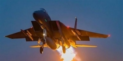مقاتلات التحالف تشن 8 غارات على مواقع الحوثي بحجة