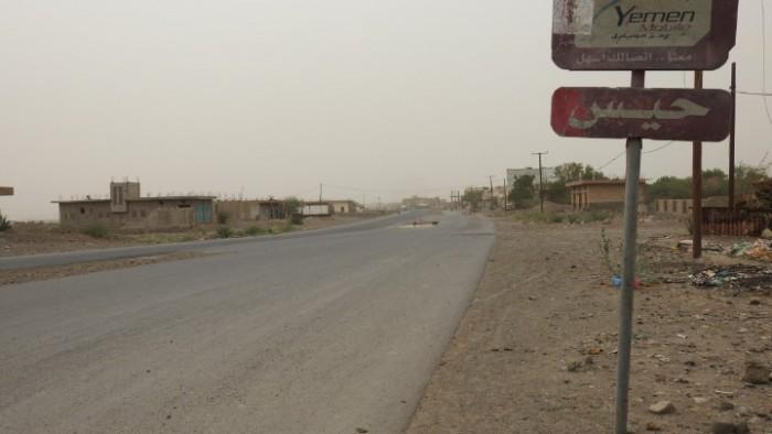 قصف حوثي على مواقع القوات المشتركة في حيس
