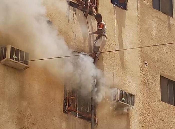 وفاة طفل في حريق شقة سكنية بمدينة الحبيلين