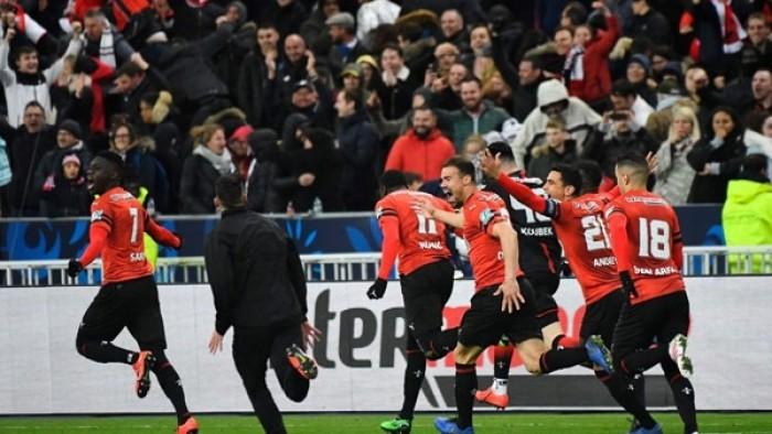 """""""ستاد رين"""" يتصدر الدوري الفرنسي مؤقتًا بالفوز على ستراسبورج"""