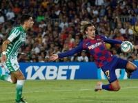 جريزمان ينجح في قيادة برشلونة للتعادل أمام بيتيس في الشوط الأول