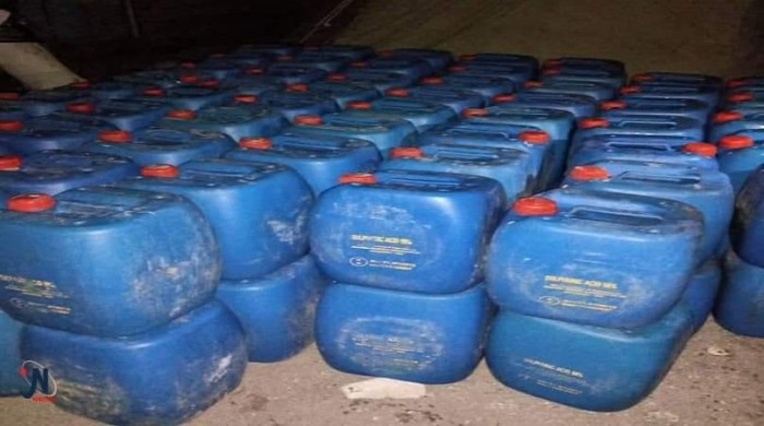 ضبط مواد مهربة تستخدم في صناعة المتفجرات بالمخا كانت في طريقها للحوثيين